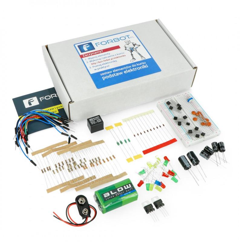 FORBOT - podstawy elektroniki - zestaw elementów + kurs ON-LINE
