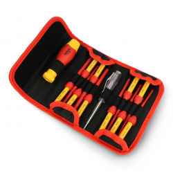 VDE insulated screwdriver with set 10 bits Yato YT-28290