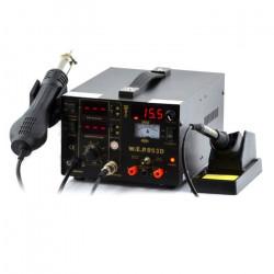 Stacja lutownicza 3w1 hotair, grotowa + zasilacz WEP 853D z wentylatorem w kolbie