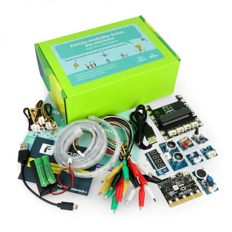 Zestaw micro:bit Grove Inventor Kit - zestaw wynalazcy dla dzieci (moduły + micro:bit + kurs FORBOT)