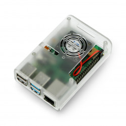Case for Raspberry Pi 4B with fan - transparent