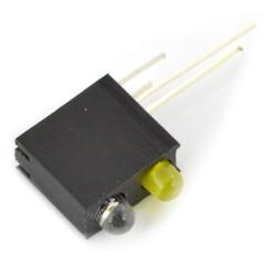Dioda LED zielona i żółta w oprawce