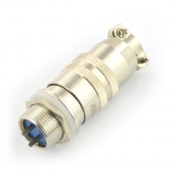 Złącze przemysłowe ZP2 z szybkozłączem - 2-pinowe