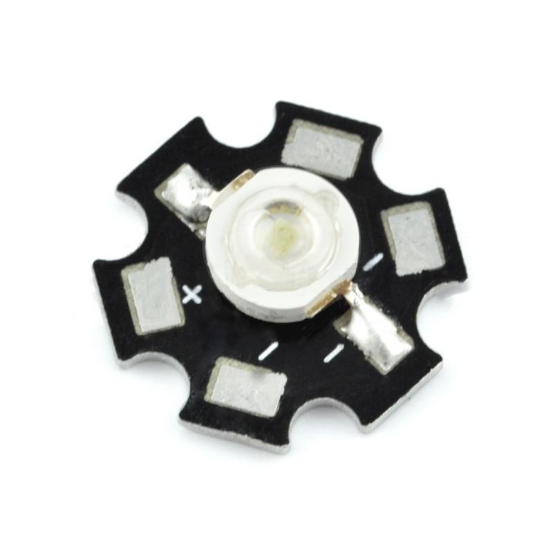Dioda Power LED Star 3 W - biała z radiatorem