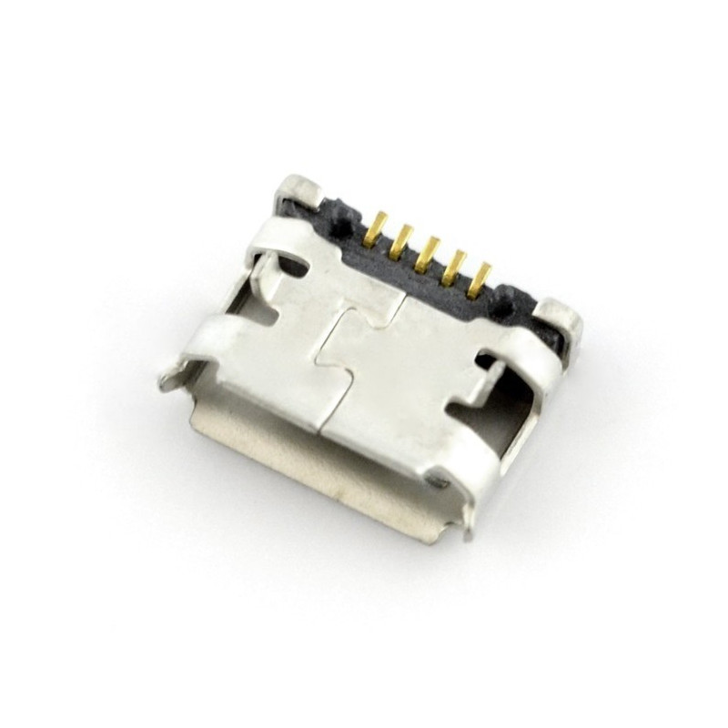 Gniazdo microUSB typu B - SMD z wypustkami