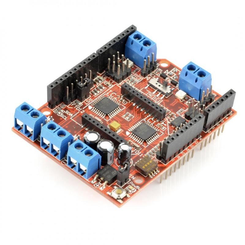 ComMotion Shield - sterownik silników 16V/2,5A - nakładka dla Arduino