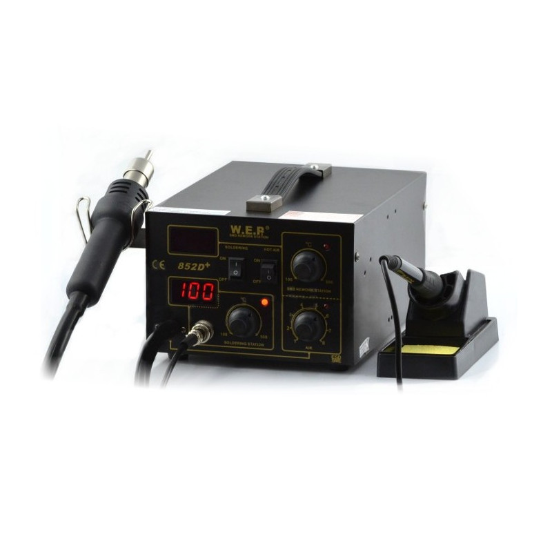 Soldering station 2in1 hotair and tip-based WEP 852D+_