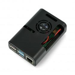 Obudowa do Raspberry Pi 4 z wentylatorem - czarna