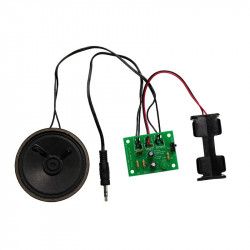 Mono Amplifier Kit - zestaw wzmacniacza mono z przełącznikiem zasilania i diodami LED - Kitronik 2173
