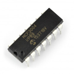 MCP3004-I/P 4-Channel 12-Bit A/D Converters with SPI Serial Interface