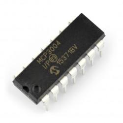 Przetwornik A/C MCP3004-I/P 10-bitowy 4-kanałowy SPI - DIP