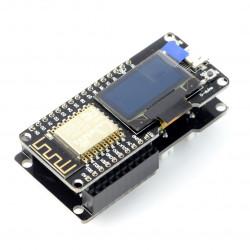 """Moduł ESP12 WiFi - OLED 0,9"""" + płytka rozszerzeń - NodeMCU"""
