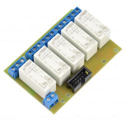 Płytka przekaźników 16A x 5 do GSM/LAN kontrolera - 12V