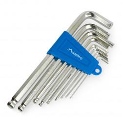Zestaw kluczy imbusowych 1,5 - 10mm - Lanberg NT-0803 - 9szt.