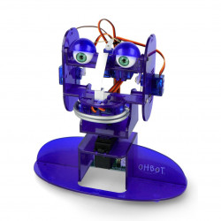 Robot edukacyjny Ohbot 2.1 złożony z oprogramowaniem