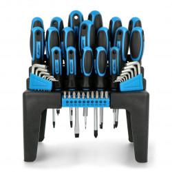 Screwdriver, bits and allen keys set Lanberg NT-0805 - 44 elements