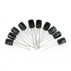 Electrolytic capacitor 100uF/16V 6x7mm 105C THT - 10pcs.