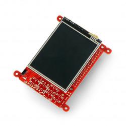 "Pi Supply Media Center Hat - 2.83"" touch screen - joystick + IR remote control"