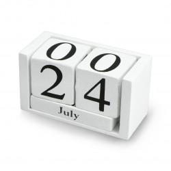 Drewniany kalendarz bloczkowy - czarny