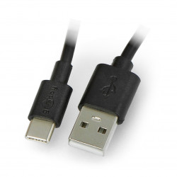 Goobay USB-C charging and sync cable 0,1m black