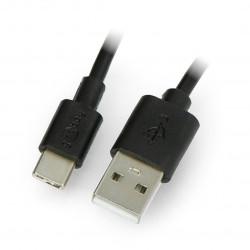 Przewód Goobay USB A 2.0 - USB C czarny - 1m