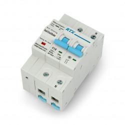 Rozłącznik prądu WiFi Tuya RTX CB16 2P 2x 16A