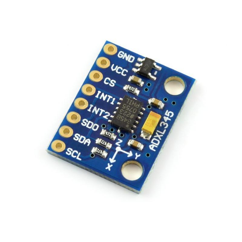 ADXL345 3-osiowy akcelerometr cyfrowy I2C / SPI - moduł