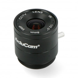 CS Mount lens 8mm with manual focus - for Raspberry Pi camera - Arducam LN038