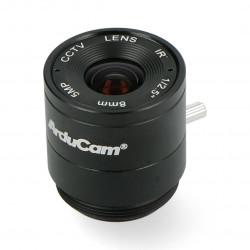 Obiektyw CS Mount 8mm z manualnym fokusem - do kamery Raspberry Pi - Arducam LN038