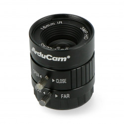 CS Mount lens 16mm with manual focus - for Raspberry Pi camera - Arducam LN050