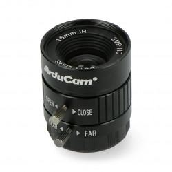 Obiektyw CS Mount 16mm z manualnym fokusem - do kamery Raspberry Pi - Arducam LN050