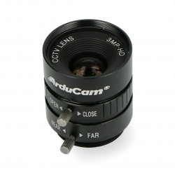 Wide angle CS Mount lens 12mm with manual focus - for Raspberry Pi HQ camera - ArduCam LN037