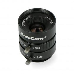 Obiektyw CS Mount 12mm z manualnym fokusem - do kamery Raspberry Pi - ArduCam LN040