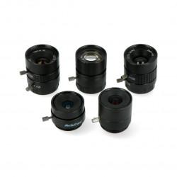 Zestaw obiektywów CS Mount 6-25mm - dla kamery Raspberry Pi - 5szt. - ArduCam LK004