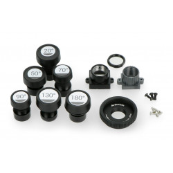Set of M12 20° - 180° lenses for Raspberry camera + CS and C-CS adapter - 5 pcs.