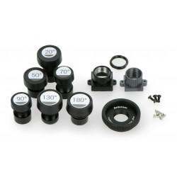 Zestaw obiektywów M12 20° - 180° do kamery Raspberry + adapter CS i C-CS - 5szt.