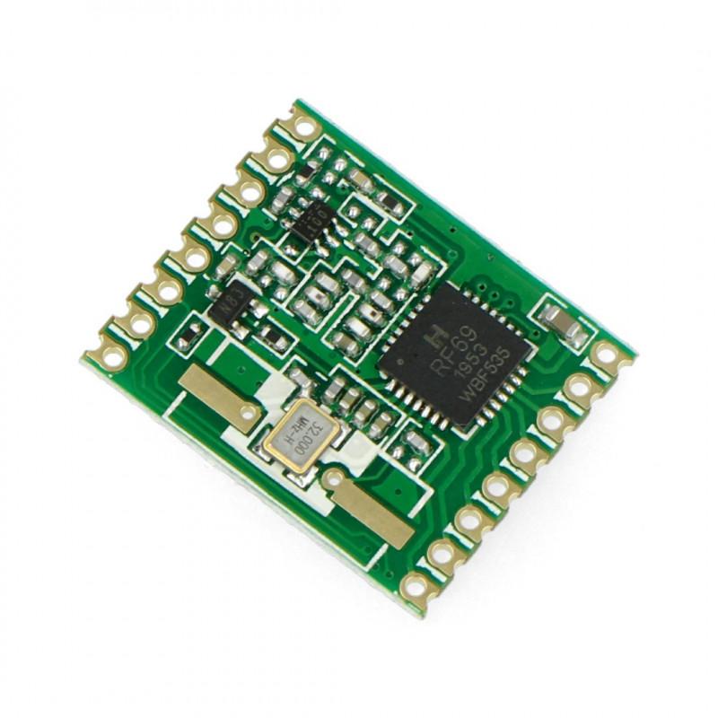 Radio module - RFM69HW-433S 433MHz - SMD transceiver*