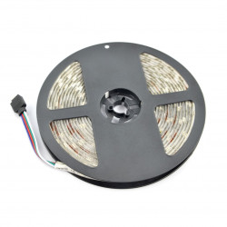 Pasek LED SMD5050 IP65 7,2W, 30 diod/m, 10mm, RGB - 5m