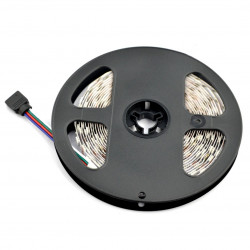 Strip LED SMD5050 IP44 14,4W, 60 LED/m, 10mm, RGB - 5m