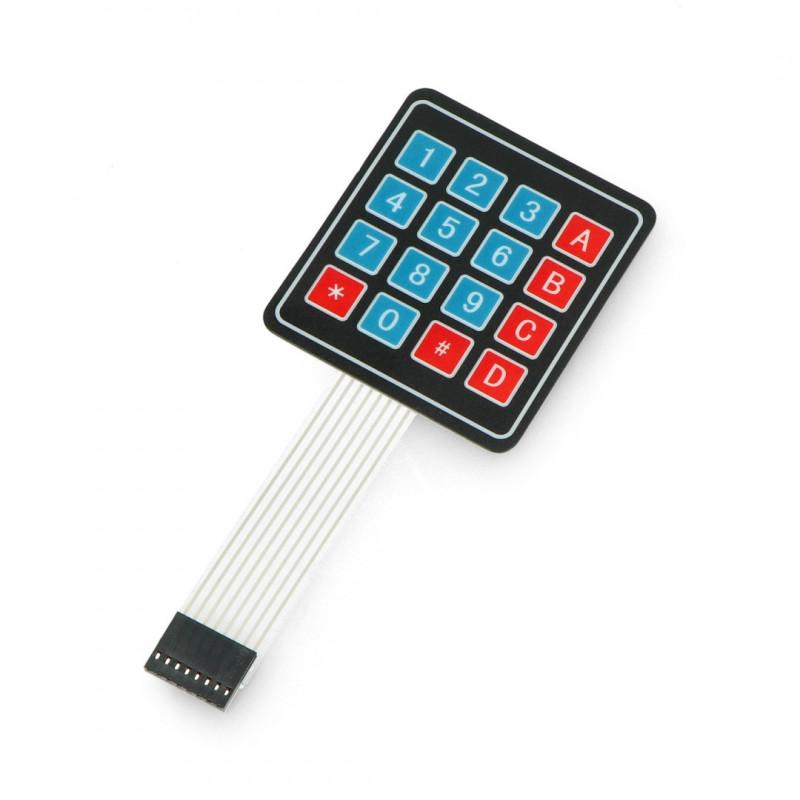 Numeric self-adhesive membrane keyboard - 16 keys*