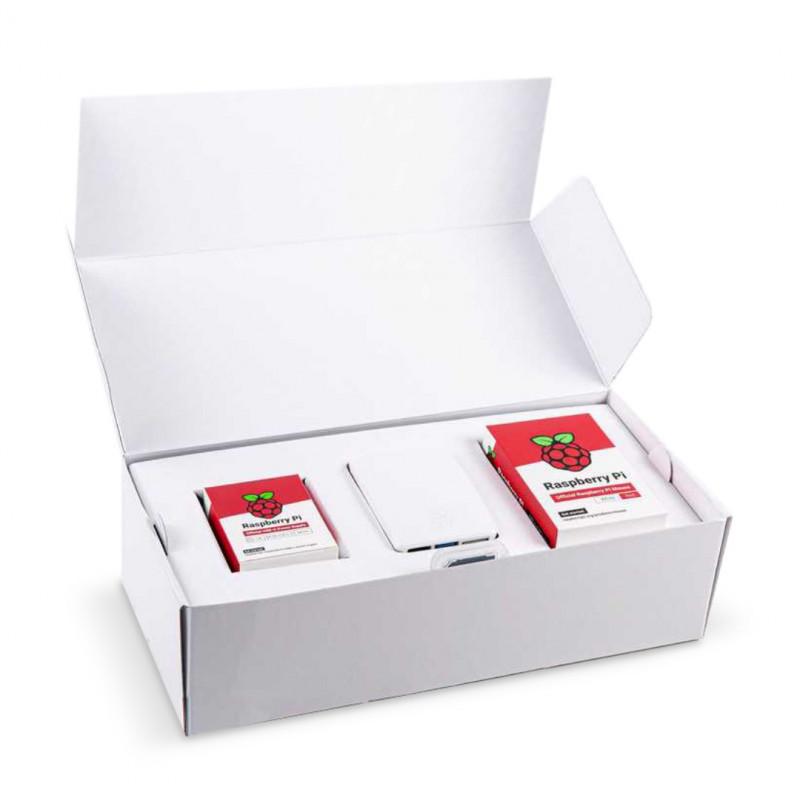 Desktop Kit zestaw Raspberry Pi 4B 4GB RAM z obudową oraz klawiaturą i myszką czerwono-białą