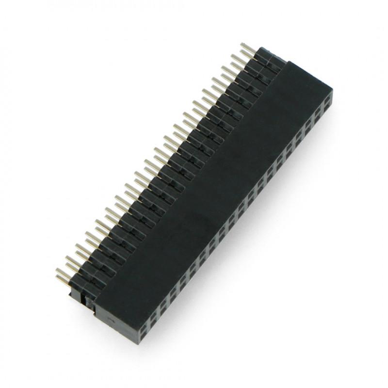 Gniazdo żeńskie 2x20 raster 2,54mm dla Raspberry Pi 4B/3B+/3B/Zero wysokie, piny 3mm - Adafruit 1992