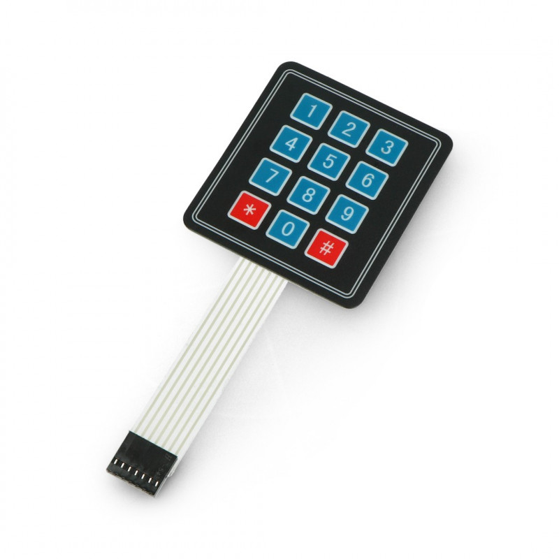 Numeric keypad, self-adhesive, 12 keys*