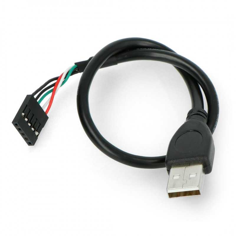 Przewód USB A z gniazdem 1x5 - 0,3m
