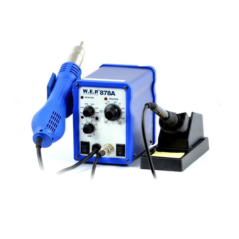 Soldering station 2in1 hotair and tip-based WEP 878A - 700W_