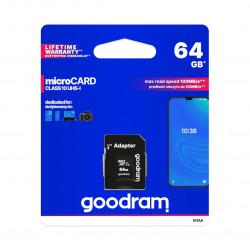 Karta pamięci Goodram micro SD / SDXC 64GB UHS-I klasa 10 z adapterem