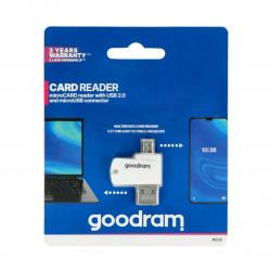 Czytnik kart microSD z wejściem USB i microUSB OTG - GoodRam
