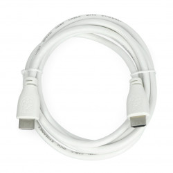 Cable HDMI 2m 30awg white - Raspberry Official
