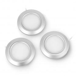 Zestaw podszafkowych lampek LED LSCG2301YM3 Plug & Play z włącznikiem i zasilaczem