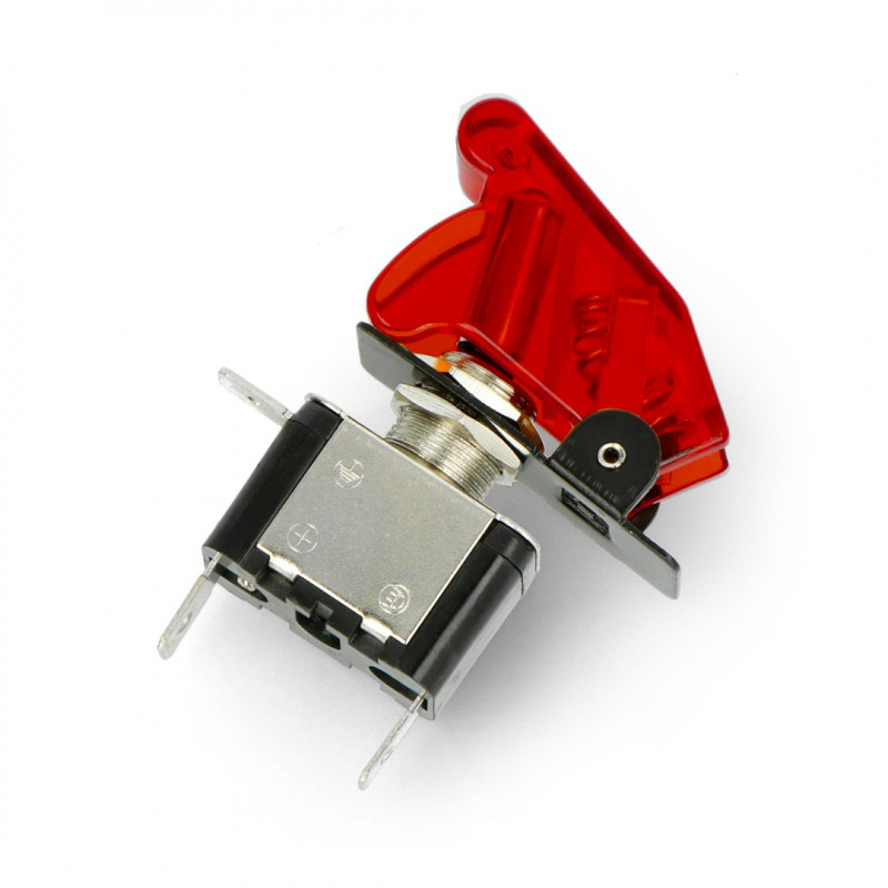 Przełącznik dźwigniowy ON-OFF 12V/20A podświetlany - czerwony - Adafruit 3218